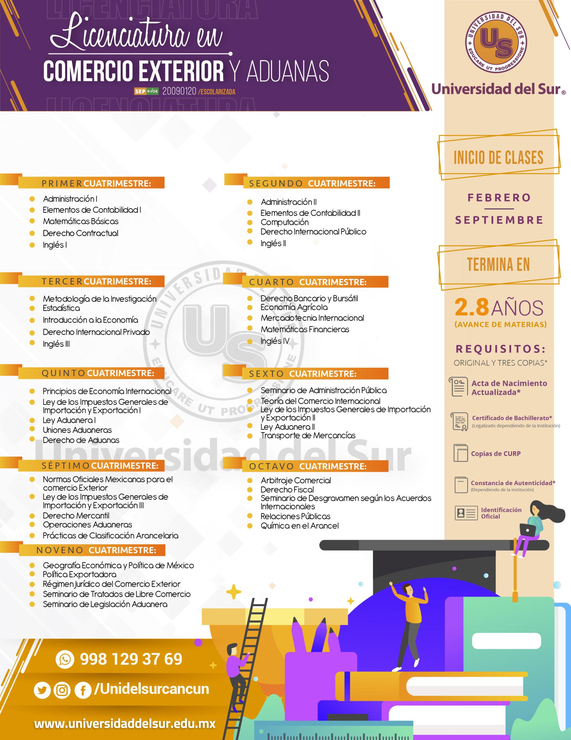 licenciatura en comercio exterior y aduanas